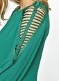 Jus De Pommes Kol Detaylı Kısa Elbise Yeşil